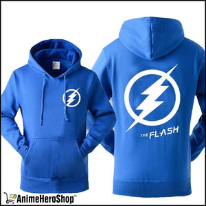 The Flash Men Autumn Winter Sweatshirt Casual Print With Hat - Anime Hero Shop