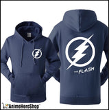 The Flash Men Autumn Winter Sweatshirt Casual Print With Hat
