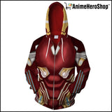 New Ironman 3d Unisex Zip Up Hoodie - Anime Hero Shop