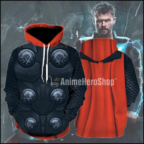 Image of 2019 Avengers Infinity War Thor God Of Thunder Hoodie