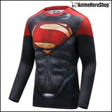 New Superman Fitness & Compression Shirt Tights