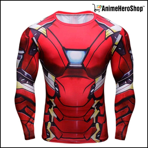 Image of Ironman T-Shirt Long Sleeve 3D Print (2 Styles ) - Anime Hero Shop