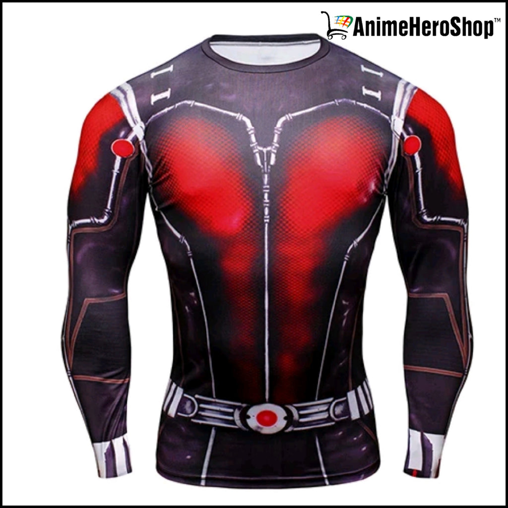 Antman T-Shirt Long Sleeve 3D Print - Anime Hero Shop