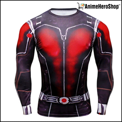 Image of Antman T-Shirt Long Sleeve 3D Print - Anime Hero Shop