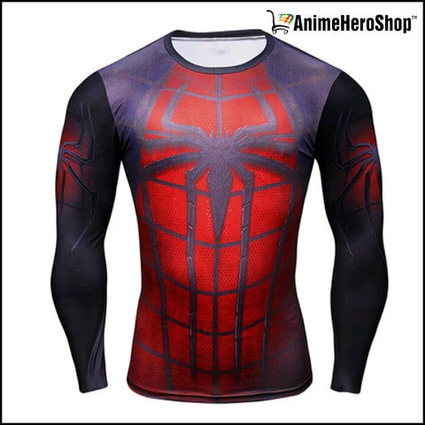 Image of Spiderman T-Shirt Long Sleeve 3D Print (2 Styles )