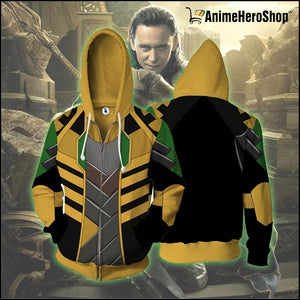 Infinity War Loki 3D print Zip Up Hoodie - Anime Hero Shop