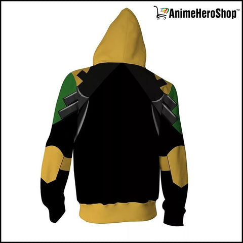 Image of Infinity War Loki 3D print Zip Up Hoodie - Anime Hero Shop