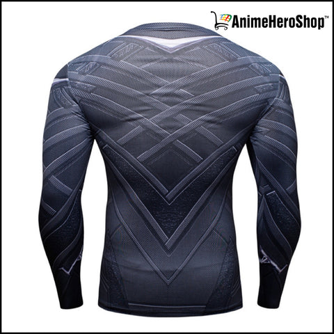 Image of Black Panther T-Shirt Long Sleeve 3D Print - Anime Hero Shop