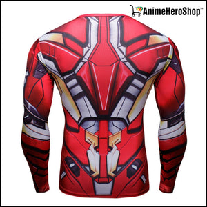 Ironman T-Shirt Long Sleeve 3D Print (2 Styles ) - Anime Hero Shop