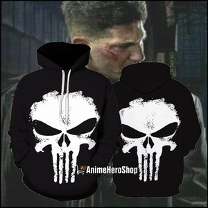 The Punisher 3D print Hoodie - Anime Hero Shop