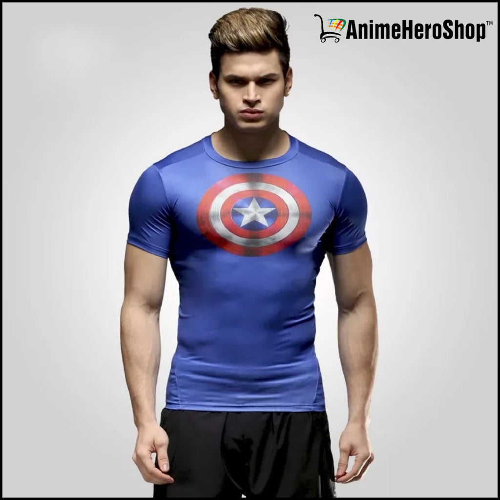Captain America Spiderman Superman and Batman lycra tights T-shirts