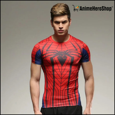 Image of Captain America Spiderman Superman and Batman lycra tights T-shirts