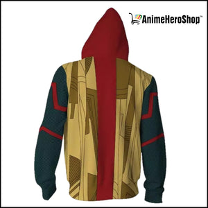 Avengers Infinity War Vision 3D print Zip Up Hoodie - Anime Hero Shop
