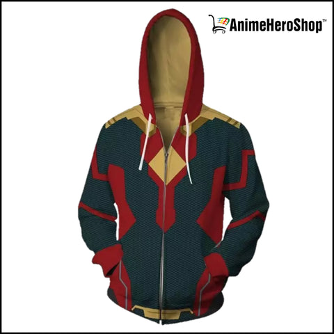 Image of Avengers Infinity War Vision 3D print Zip Up Hoodie - Anime Hero Shop