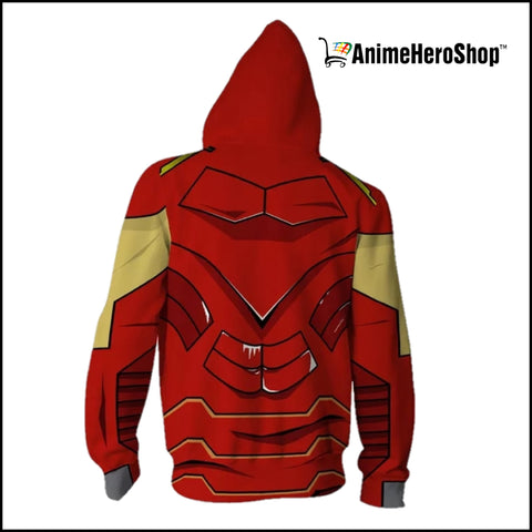Image of Iron Man Zip Up Hoodie  ( Avengers Infinity War ) - Anime Hero Shop