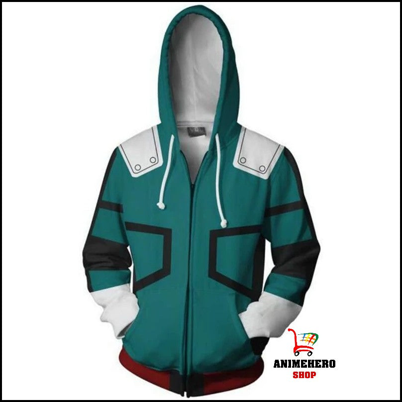 My Hero Academia Izuku Midoriya Zip Up Hoodie