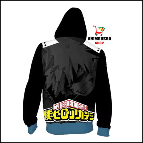 Image of Bakugou Katsuki Cosplay Zip Up Hoodie - Anime Hero Shop