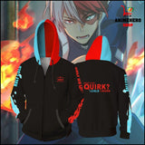 Shoto Todoroki Cosplay Zip Up Hoodie