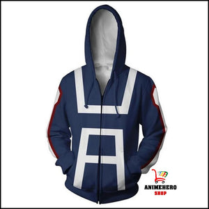 Midoriya My Hero Academia College Zip Up Hoodie - Anime Hero Shop