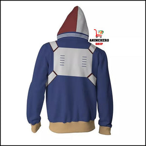 My Hero Academia Shoto Todoroki Zip Up Hoodie - Anime Hero Shop