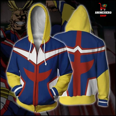 My Hero Academia All Might Zip Up Hoodie