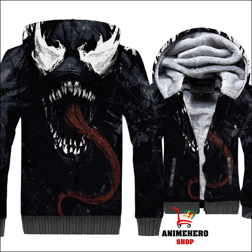 Venom Thick Warm Winter Jacket 3D Print