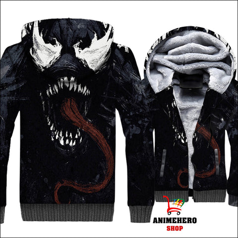 Image of Venom Thick Warm Winter Jacket 3D Print - Anime Hero Shop