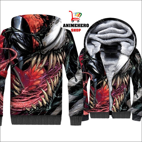 Image of Venom Thick Warm Winter Jacket 3D Print