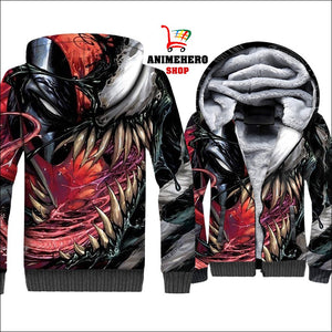 Venom Thick Warm Winter Jacket 3D Print - Anime Hero Shop