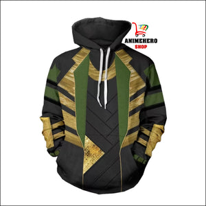 Thor: The Dark World Avengers LOKI Cosplay Hoodie - Anime Hero Shop