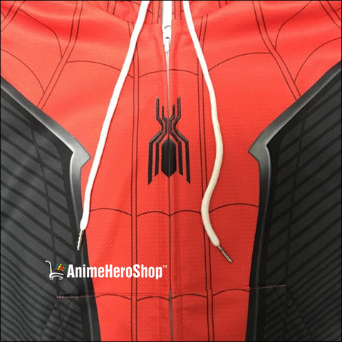 2019 Spider-Man Far From Home Unisex Zip Up Hoodie