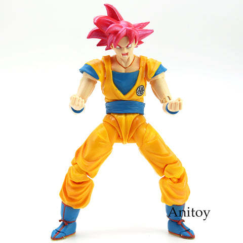Image of Dragon Ball Super Saiyan God Son Goku Red Hair PVC Action Figure 15cm - Anime Hero Shop