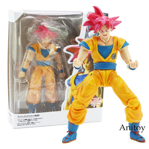 Dragon Ball Super Saiyan God Son Goku Red Hair PVC Action Figure 15cm - Anime Hero Shop