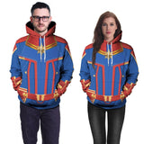 Captain Marvel 3D Print Unisex Casual Hoodie Pullover