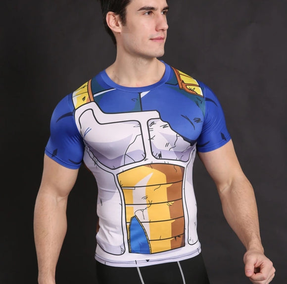Dragon Ball Compression Tops Fitness
