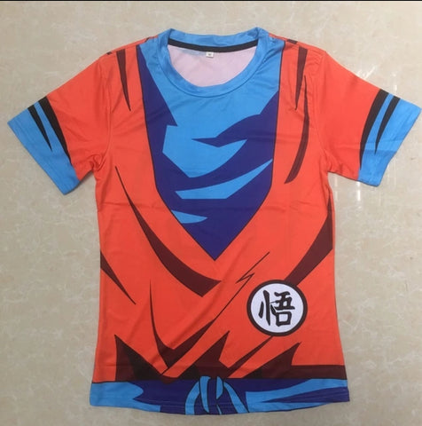 Image of Dragon Ball Compression Tops Fitness