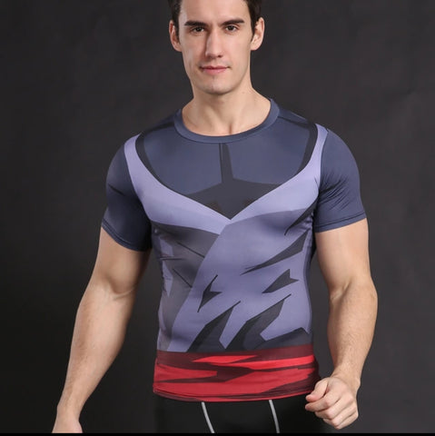 Dragon Ball Compression Tops Fitness T-shirt - Anime Hero Shop
