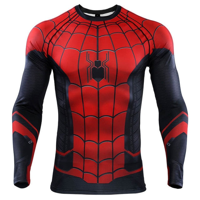 e2370ab3 2019 Spider Man Far From Home Compression T-shirts & Pants for Men ...