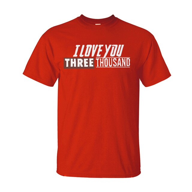 Avengers Endgame Iron Man - Tony Stark I Love You 3000 Cotton T-Shirt for Men