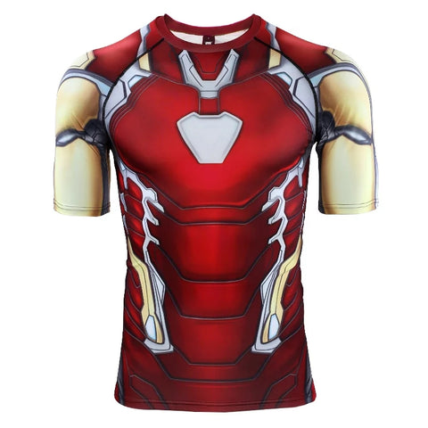 Image of 2019 Avengers 4 EndGame Iron Man Mark 85 Compression T-shirts & Pants for Men