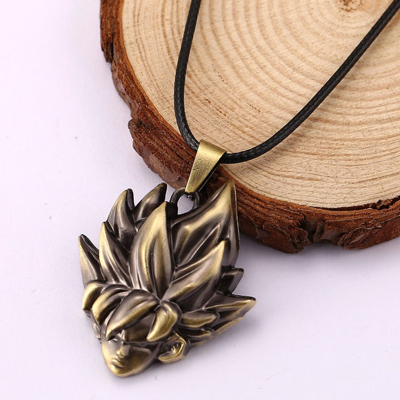 Goku Saiyan Zinc Alloy Pendant Rope Necklaces Women Men