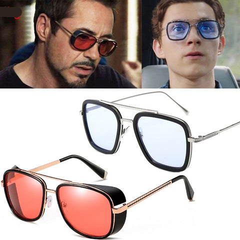 Image of Spider-Man: Far From Home Sunglasses Cosplay Props Retro Edith Glasses Iron Man TONY Stark Sunglasses - Anime Hero Shop