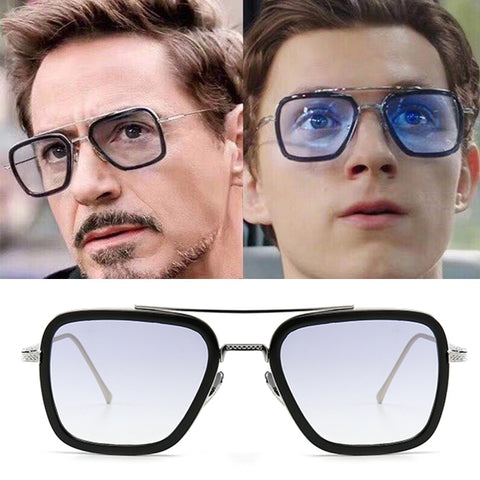 Image of 2019 Movie Spiderman Far From Home Iron-Man Glasses Spider Man Peter Parker Cosplay Edith Sunglasses - Anime Hero Shop