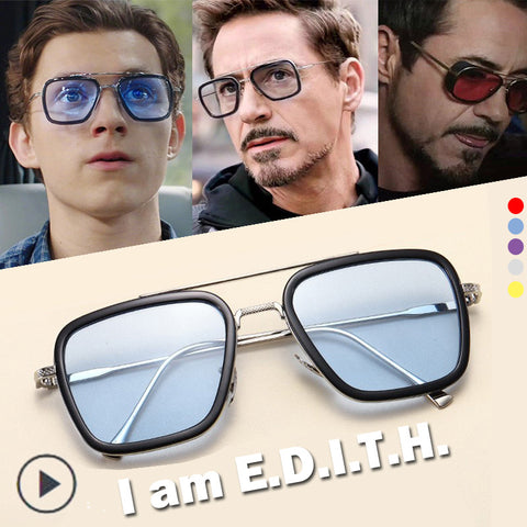 Image of EDITH Glasses Spider Man Glasses Far From Home Peter Parker Iron Man Avengers TONY Stark Sunglasses Men Eyewear Sun Halloween - Anime Hero Shop