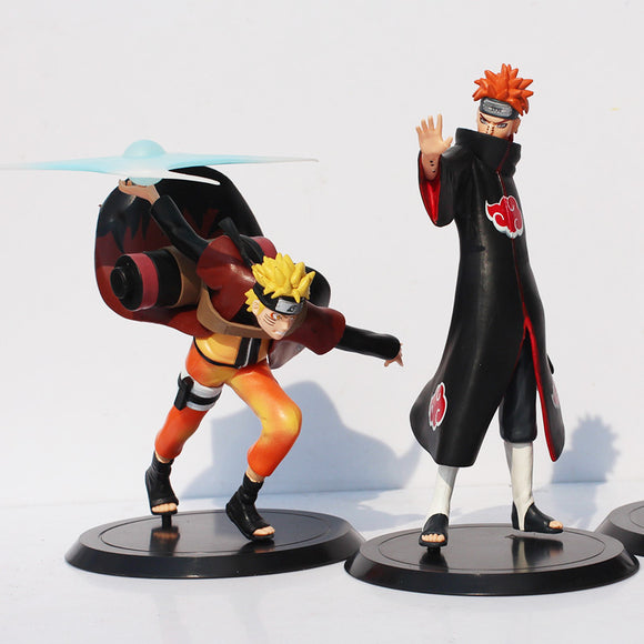 2Pcs/Set Naruto Uzumaki Naruto VS Pain PVC Action Figure