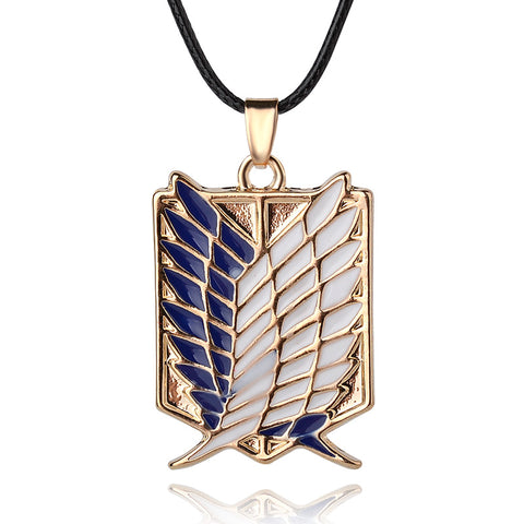 Image of Attack on Titan Scout Regiment Logo Necklace Survey Corps - Anime Hero Shop