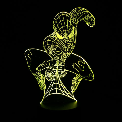 Spider-Man 3D Table Lamp (7 colors) 4 Styles - Anime Hero Shop