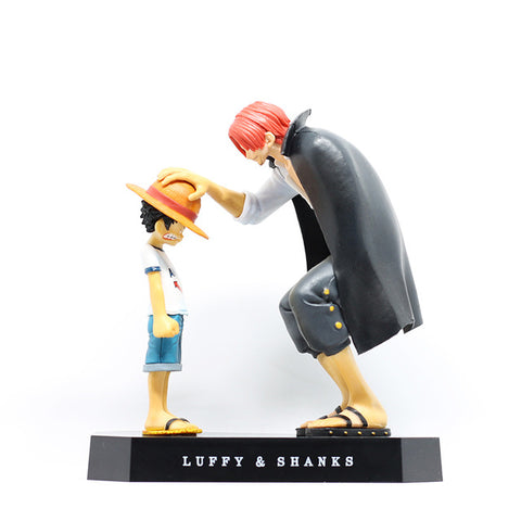 Image of Luffy Shanks red hair ornaments gift doll toys 17.5cm child luffy