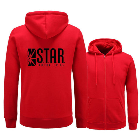 Image of The Flash Star Labs Sweatshirt Hoodies Male Clothes - Anime Hero Shop