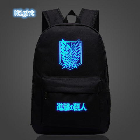 Image of Attack on Titan Backpack Printing School Bag for Teenagers Cartoon Travel Bag Nylon - Anime Hero Shop